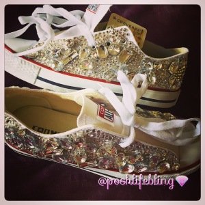 Crystal All Star, Chuck Taylor Bling Wedding Bridal Shoes | Diary of ...